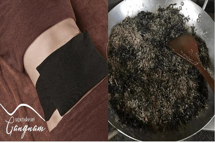 Căng da bụng sau sinh bằng muối ngải cứu