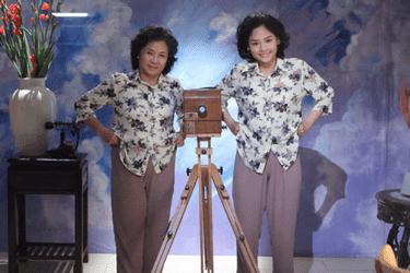 """NSƯT Minh Đức (trái) trong """"Em là bà nội của anh"""""""