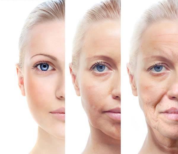 Quá trình lão hóa da diễn ra theo thời gian và tác động bởi môi trường