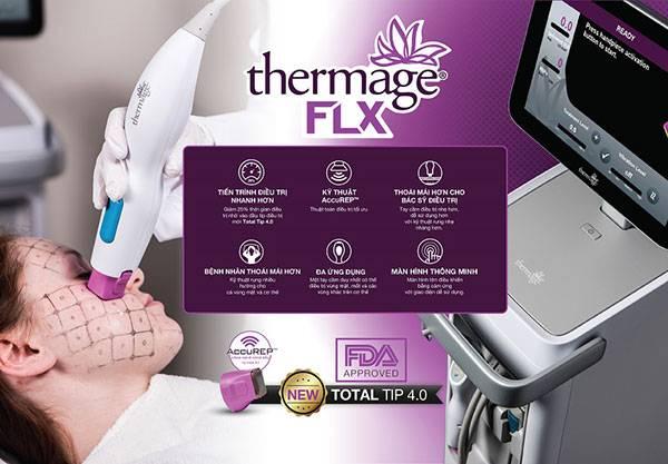 Nâng cơ mặt bằng máy Thermage FLX thế hệ mới giúp làn da trẻ lại tới 10 tuổi chỉ sau 1 lần trị liệu