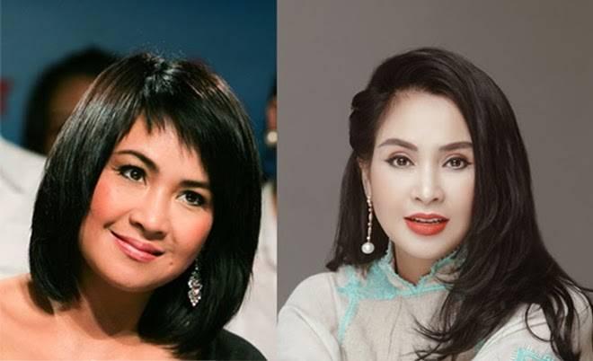 Thanh Lam ngày ấy (trái - năm 2008) - bây giờ (phải - năm 2019)