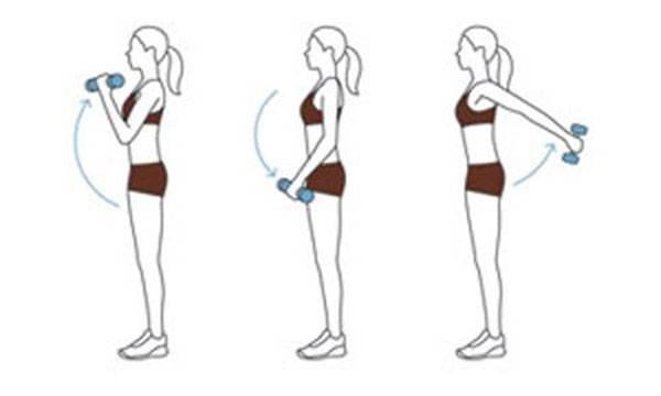 Bài tập tạ giúp giảm béo vai và bắp tay đơn giản