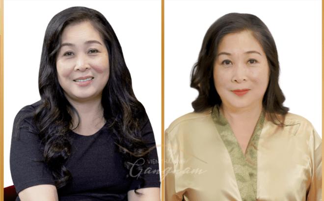NSND Hồng Vân trước và sau khi trẻ hóa da bằng căng chỉ Collagen Smart Fiber