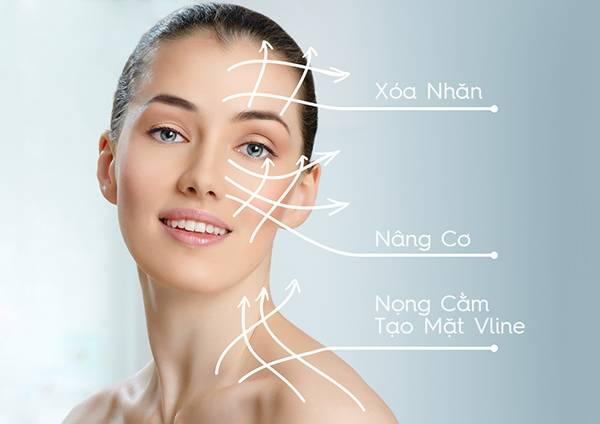 Nâng cơ mặt bằng chỉ giúp xóa mờ các dấu hiệu lão hóa ở các vùng da khó nhằn như mắt, trán, đường viền hàm,...
