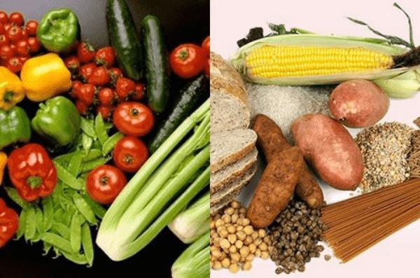 NÊN tăng cường các nhóm thực phẩm ít calo, giàu chất xơ, khoáng chất