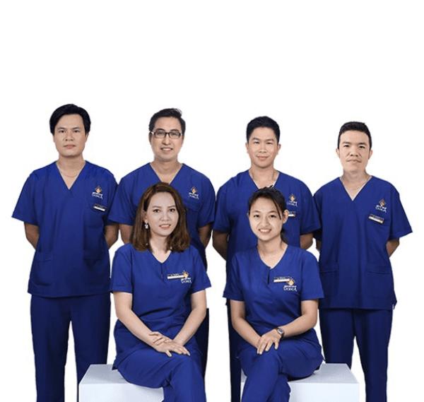 Đội ngũ bác sĩ tại Thẩm mỹ viện Đông Á