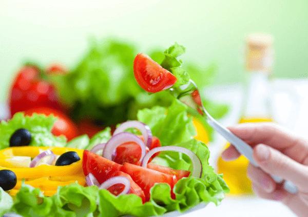 Bổ sung thêm các món ăn giảm béo từ loại rau củ quả vào thực đơn