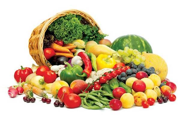 Ăn nhiều rau và trái cây tươi giúp căng da mặt
