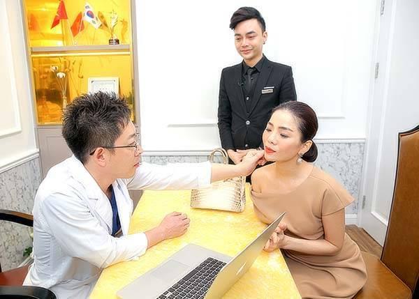 Quy trình căng da mặt bằng chỉ tại Mega Gangnam - Bước 1