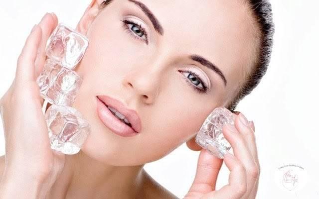 Massage đá lạnh làm thon gọn khuôn mặt & săn chắc da