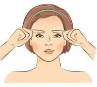 Bước 1: Massage trán