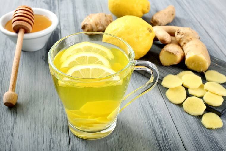 giảm mỡ bụng cấp tốc tại nhà bằng nước chanh gừng mật ong