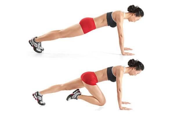 Bài tập cardio giảm mỡ toàn thân cho nữ: hít đất trườn tới