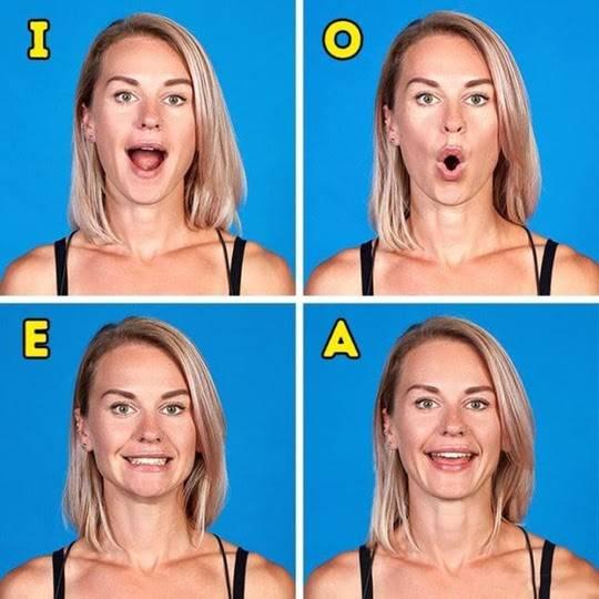 Bài tập phát âm giúp giảm mỡ nọng cằm hiệu quả