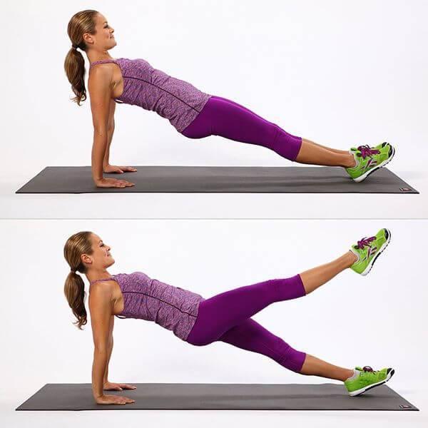 Plank nâng ngược chân