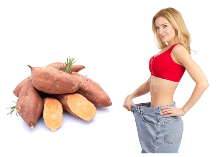 Khoai lang là thực phẩm giảm cân hiệu quả.