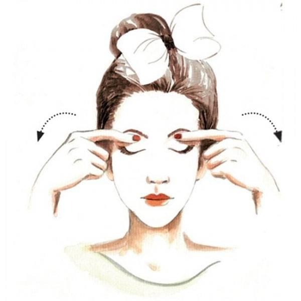 Massage vùng mắt
