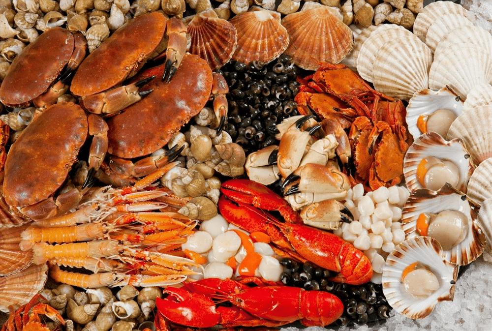 Đa dạng các loại hải sản trong thực đơn hàng ngày để tăng vòng 1 nở nang