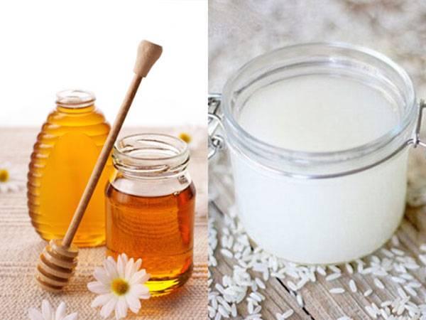 Làm trắng da bằng nước vo gạo và mật ong