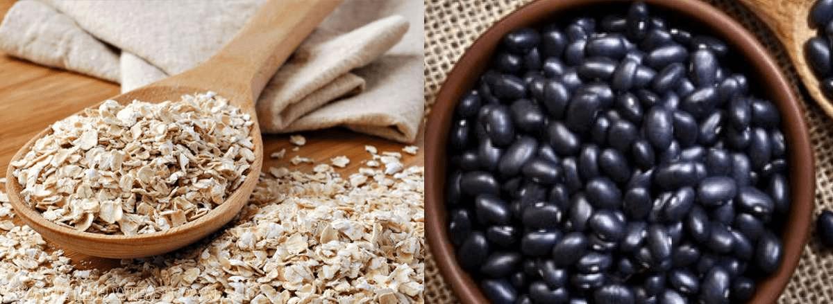 Nấu đậu đen kết hợp yến mạch giảm cân