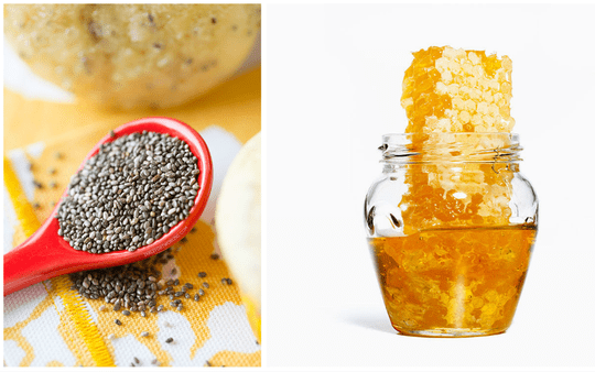 Hạt chia + mật ong