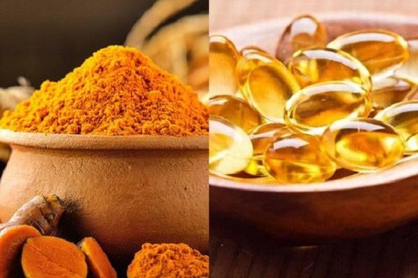 Mặt nạ vitamin E chăm sóc da mặt kết hợp với tinh bột nghệ