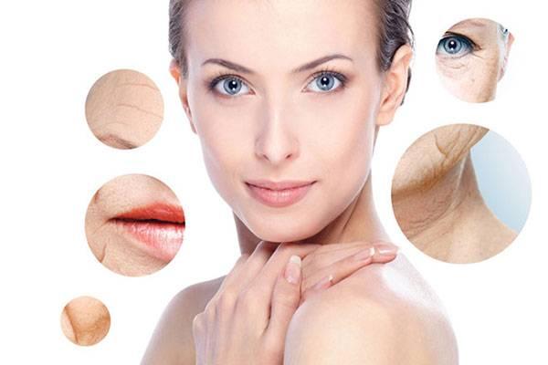 Biểu hiện của lão hóa da có thể nhìn thấy được: nếp nhăn, da chùng, chảy xệ,...