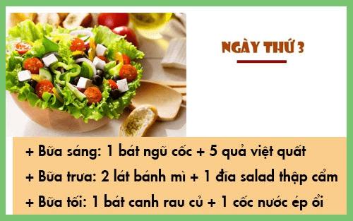Thực đơn ăn chay giảm cân ngày 3