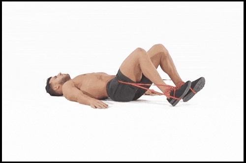 Bài tập mông cho nam đẩy hông với dây đàn hồi