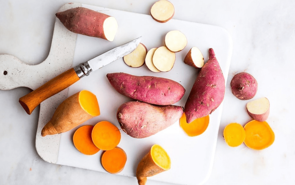 Giảm cân với chuối + khoai lang