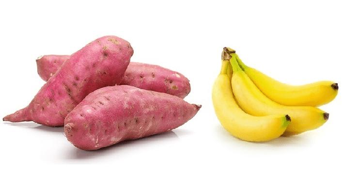 Giảm cân bằng khoai lang và chuối
