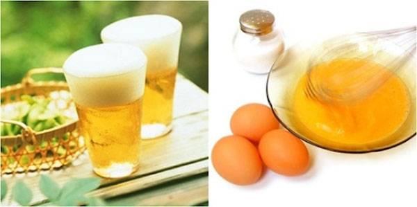 Làm trắng da bằng bia và trứng gà