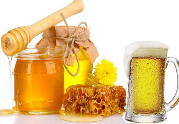 Làm trắng da từ bia và mật ong