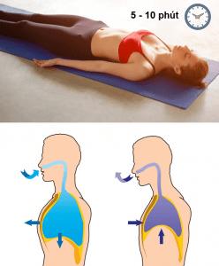 Bài tập giảm mỡ eo bụng - thở cơ hoành