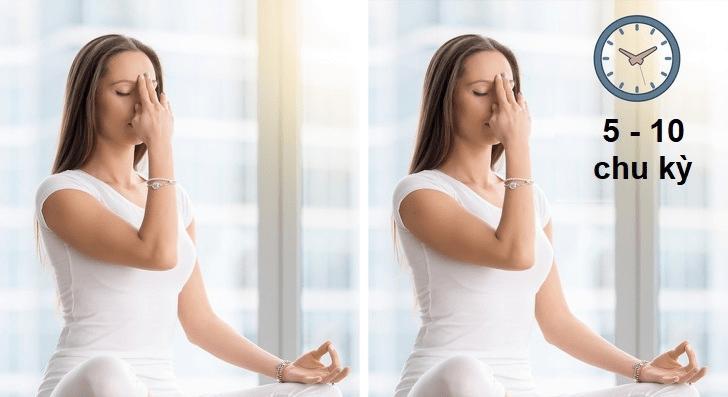 Bài tập thở luân phiên - Giúp vòng 3 săn chắc