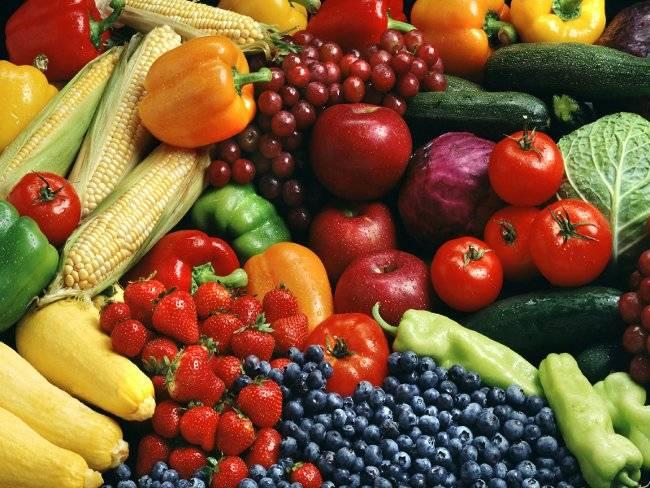 Rau củ và trái cây là thực phẩm giảm mỡ hiệu quả