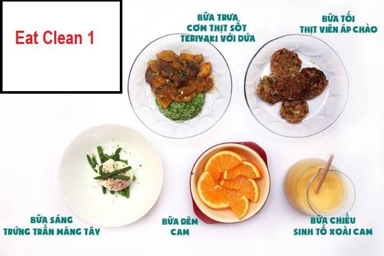 Thực đơn Eat Clean 1
