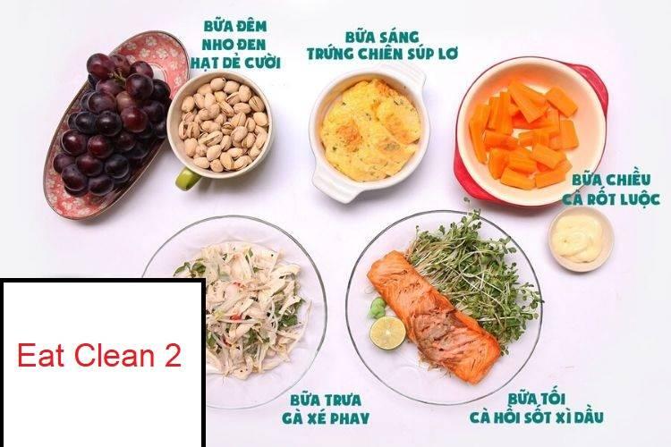 Thực đơn Eat Clean 2