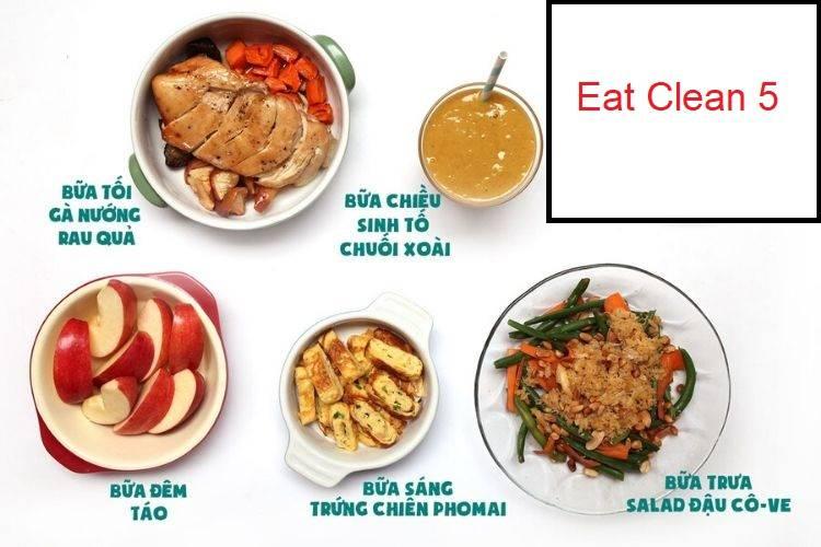 Thực đơn Eat Clean 5