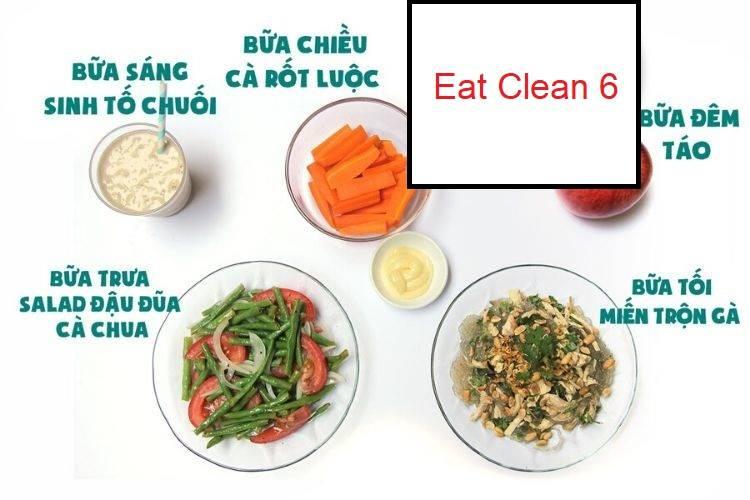 Thực đơn Eat Clean 6