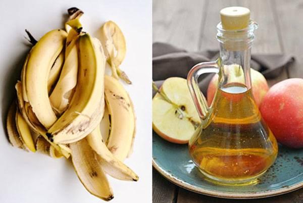 Hỗ trợ trị mụn hiệu quả nhờ sự kết hợp giữ vỏ chuối và giấm táo