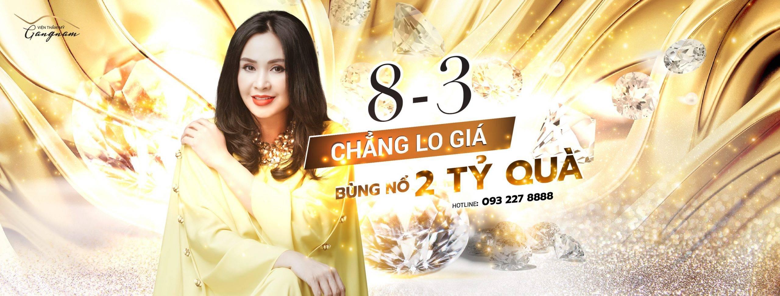 Ưu đãi tháng 3 – Chẳng lo về giá tại Thẩm mỹ viện Gangnam
